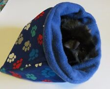 "Pawprint Cuddle 11"" fleece sleep sack bag for guinea pigs/hedgehogs/rats/ferre ts"