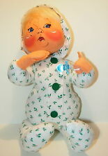 ANNALEE MOBILITY Christmas Doll Baby PJ CHEER UP BABY Blonde +Bonus Blanket