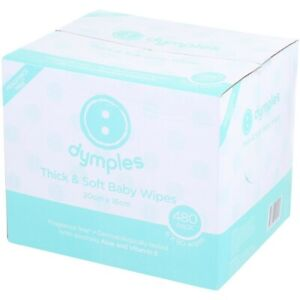 Dymples Thick & Soft Baby Wipes 480 Pack - Fragrance Free