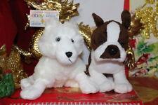 Webkinz 2 Used Arctic Fox & Boston Terrier.No Codes/Tags.Jush Plushes.Nice Gift