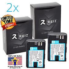 2 Pack Original Genuine REIZ LP-E6 Battery for Canon EOS Camera 5d 6d 7d 70d 80d