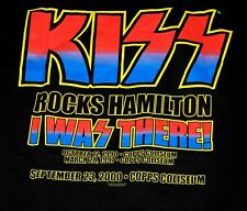 KISS Farewell Tour 2000 I Was There HAMILTON Concert T-Shirt XL UNWORN Gene Ace