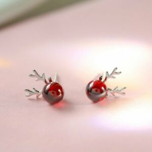 Fashion Christmas Ornaments Red Elk Stud Earrings Dangle Charm Women Jewelry Hot