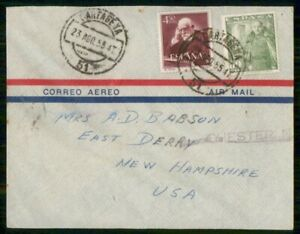 MayfairStamps Spain 1955 to East Derry New Hampshire Air Mail Cover wwi71373