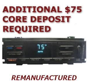 REMAN 1993 1994 Lincoln MARK 8 VIII AC Temp Heater Climate Control EATC EXCHANGE