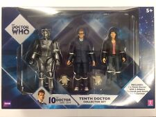 Doctor Who Tenth Doctor Collector Set Action Figures Sarah Jane Cyberman NEW!