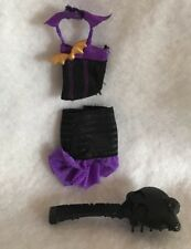 Monster High Doll Creat A Monster Cam Skirt Halter Top Bat  Black Purple Outfit