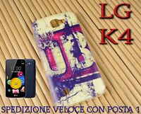 Cover custodia in gomma di silicone per Smartphone LG K4 fantasia STILE VINTAGE