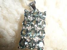 Super Rare Natural Tunduru Colour Change Sapphire & Topaz Silver Pendant 2.94ct^