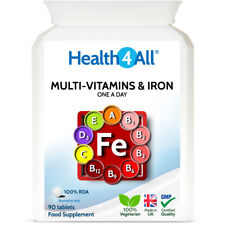 Health4All Multi-Vitamins & Iron One a day Tablets | 100% RDA | IMMUNE & ENERGY