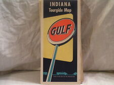 1950'S GULF OIL CO MAP OF INDIANA