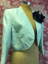 New Jacques Vert Mint Green Jacket with Corsage Size UK 16 with tags