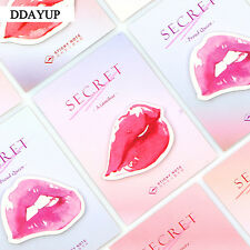 SexyRed Lips Sticky Notes Memo Pad Decorative Stickers Post it School Stationery