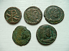 More details for roman coins - magnentius & decentius  detector finds - chi rho