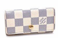 Auth Louis Vuitton Damier Azur Multicles 4 Key Case Holder N60020 LV A1863
