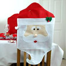 2 X Babbo Natale Sedia Da Pranzo copre Babbo Natale Decorazioni di Natale partito