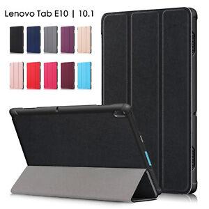 "For Lenovo Tab E10 | 10.1"" Tablet Slim Magnetic Folding cover PU Leather Case OZ"