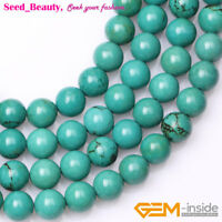 """Old Turquoise Stone Beautiful Loose Beads for Jewelry Making Strand 15"""" in Lots"""