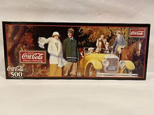 "1999 Coca Cola 500 Piece Puzzle ""Leisure Autumn Refreshment 1924"" Factory Sealed"
