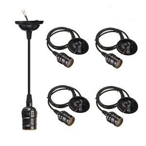 4-Pack Pendant Light Cord, HESSION Industrial Edison Pendant Light Kit, Vinta...