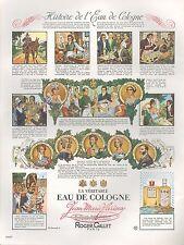 ▬► PUBLICITE ADVERTISING AD PARFUM PERFUME ROGER & GALLET Histoire eau cologne
