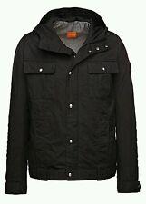 Hugo Boss Orange Ojohnny-W Cotton Blend Utility Jacket with Hood50290109Black