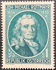 Austria, Johann-Michael Rottmayr, Painter, Mlh, Scott #594, Michel #1007, Vf