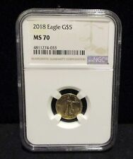2018 $5 American Gold Eagle 1/10 oz. NGC MS 70  Flawless Coin!