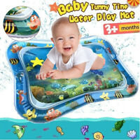 Baby Water Mat Tummy Time Inflatable Play Mat floor Activity Gym Crawling Kid^