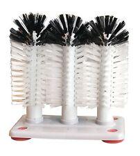 3 Set Spazzola Vetro lavatrice lavello Manuale Pulitore BAR PUB ASPIRAZIONE DRINK Pinta Scrubber
