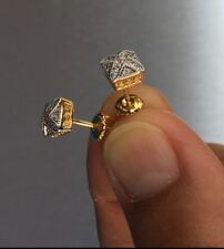 0/25 ct. Lab Created Diamond 14K Gold Filled Canary Screw Back Stud Earrings 6mm