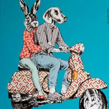 GILLIE AND MARC. Direct from artists. Authentic pop art print Vespa Adventure