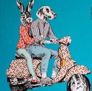 GILLIE AND MARC | Giclée Print | Pop Art | Rabbit Woman & Dog Man on Adventure