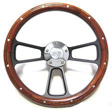 Custom Mahogany & Billet Steering Wheel Kit for 1969 - 1994 Chevy Camaro SS