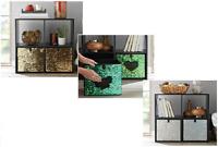 Square Canvas Storage Box Fabric Cubes Clothes Toys Foldable Reversible Sequin