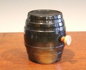 Pottery Rundlet Antique Jug Jar Crock Vintage Folk Art Moonshine Whiskey Barrel