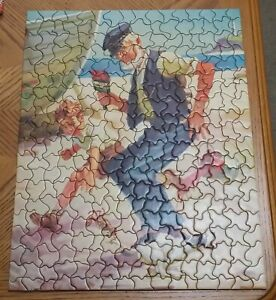Vtg Tuco Jigsaw Puzzle LOOK OUT GRAMP Hy Hintermeister Art COMPLETE 1940s