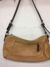 Tig & Co Brown Tan Genuine Leather Women's Medium Bag Purse