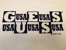 Vintage Guess T Shirt Men's 1993 With Spellout