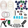 64Pcs Guitar Tool Changing Accessories Kit Strings Pick Capo Winder&Cutter Tuner