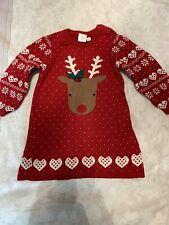 Baby Christmas Jumper Dress 6-9 Months Girls