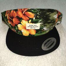 Globe Banksia Men's Headwear Snapback Cap Hat Hawaiian Print