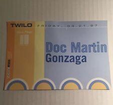 Vintage 1990s NYC Club Flyer: DOC MARTIN w/ GONZAGA, Skylab, Liquid @ TWILO NYC