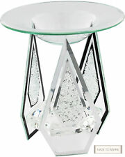Diamond Shape Glass Yankee Candle Oil Burner With crystals
