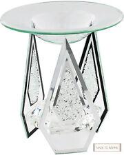 Diamond Shape Glass Yankee Candle Oil/Tart Burner Tea Light Candle With Crystals