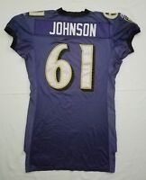 #61 Johnson of Ravens NFL Locker Room Player Worn Reebok Jersey - BR1755