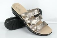 Clarks Women's Leisa Cacti Slide Sandals Size 7.5m Pewter