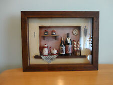 "Wall Art Decor For Kitchen Or Dinette, Wood Frame, New With Tag,15.5"" x 12"" x 2"""