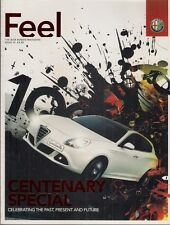 Alfa Romeo Feel Magazine No 13 2010 UK Market Brochure Giulietta 159 Alfetta