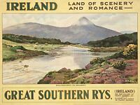 ADVERT TRAVEL IRELAND LANDSCAPE SCENERY ROMANCE ART POSTER PRINT LV292